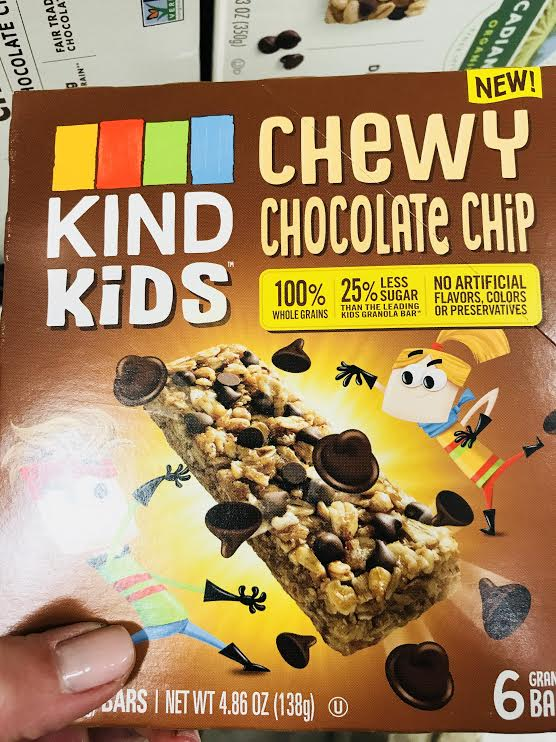 KIND Kids - If you are looking for a granola bar (which provides basically no nutrition), or a yummy snack for kids, this is a better option than most. Made with a variety of whole grains and all ingredients you can pronounce. They have slightly more fiber and iron than other granola bars and less sugar. The kids (of course) thought these were delicious. (Note: produced in a facility with many allergens)