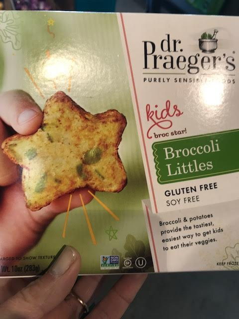 Dr Praeger's Broccoli Littles - 3* The Dr Praeger's foods always seem popular with kids of different ages. The score I gave it was based on how it compared to the Broccoli & Cheese Nuggets above. From a taste perspective, none of the kids liked these (I did, but they taste more like potatoes than any broccoli). Granted, these might be best for toddlers and I did not have any 1 year olds in the taste testing group for these. The ingredient list is clean and simple which boosted its score. Like the Earth's Best, these are supposed to be like serving vegetables, but at only 2 grams of fiber/serving, it hardly seems like it is. A processed food like this cannot compete with good old broccoli. Granted, not every child eats plain broccoli, but these are not nutritionally equivalent to eating broccoli. The calories and sodium are relatively low for a frozen food like this, but its hard for me to get excited about serving these to kids.
