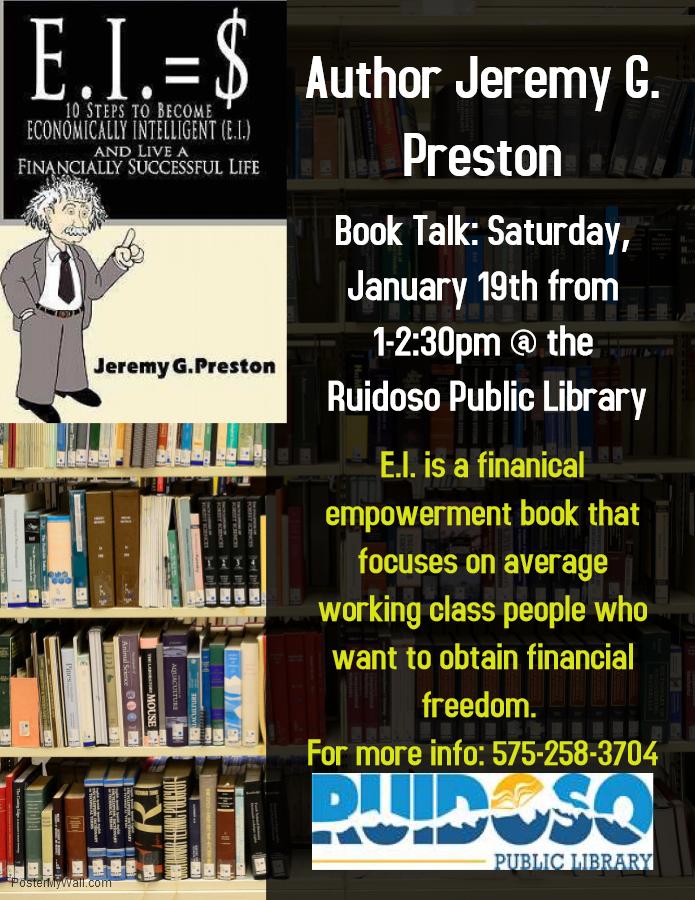 Personal finance workshop. Ruidoso Public Library