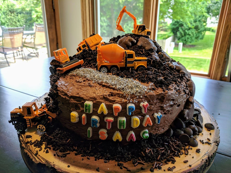 Homemade (and decorated!) birthday cake