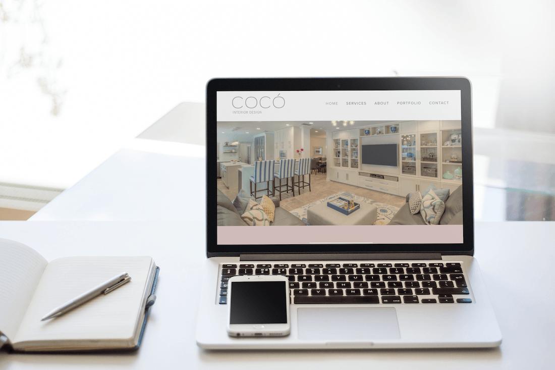 Squarespace web design for an interior designer.