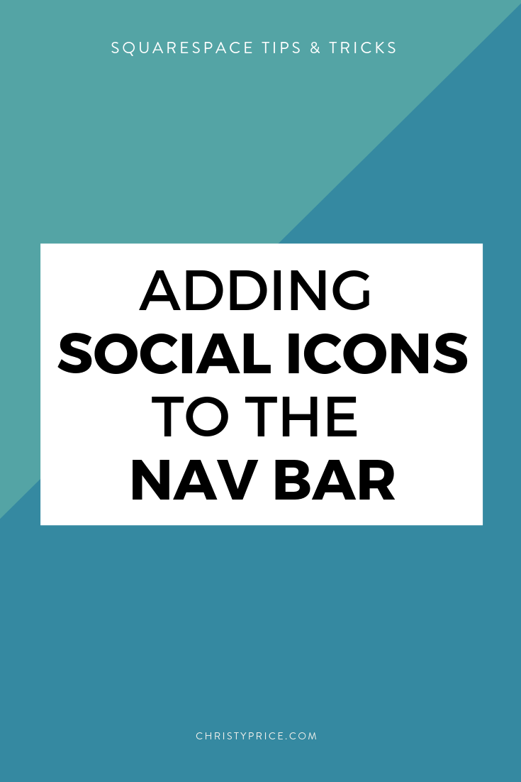 How to add Social Media Icons to Squarespace Navigation