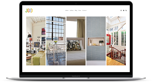 interior design website in Squarespace