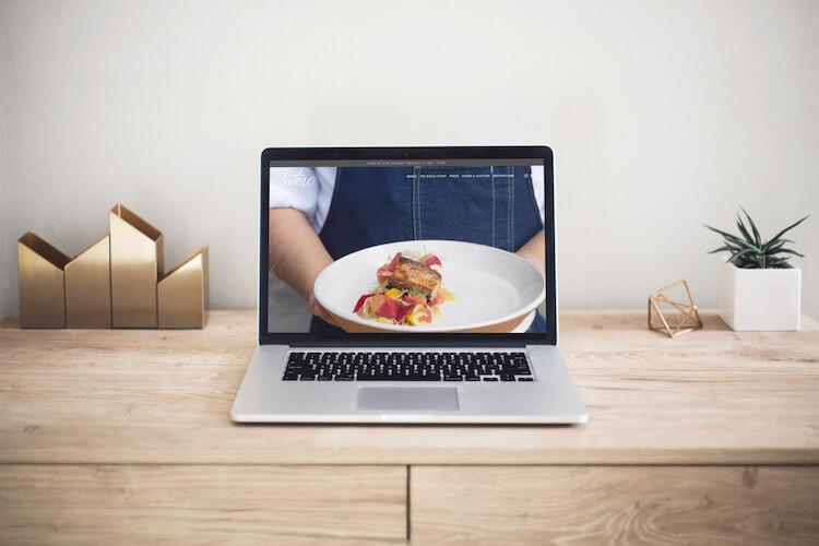 Squarespace web design for a restaurant