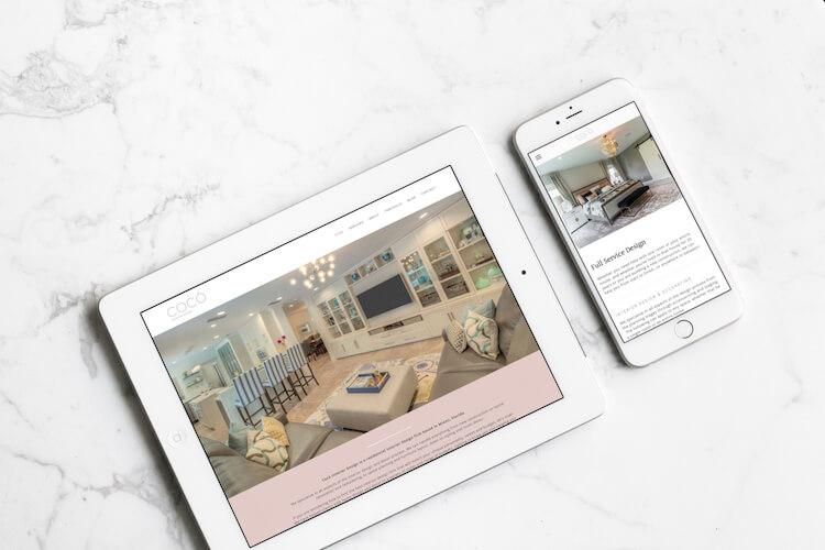 Squarespace web design for an interior designer