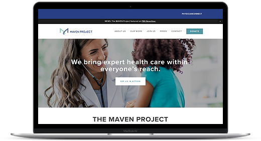 The MAVEN Project website in Squarespace