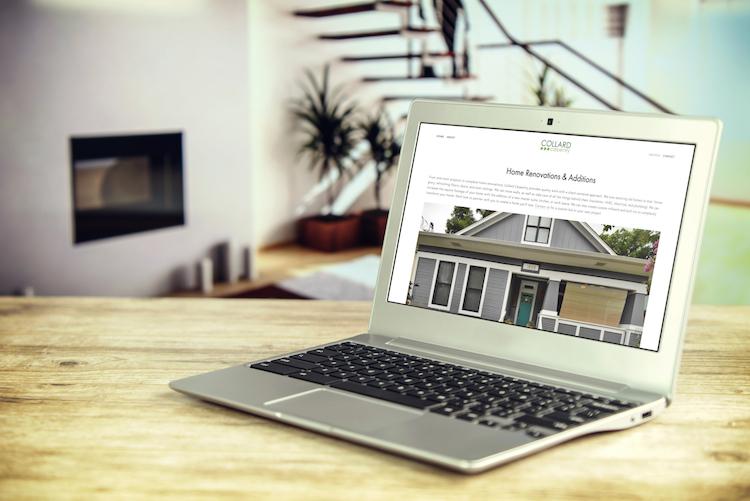 Squarespace web design for a home renovation company