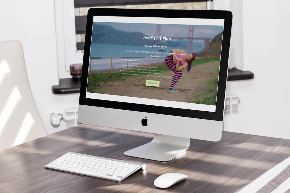 Designer for a Day for a Squarespace fitness website