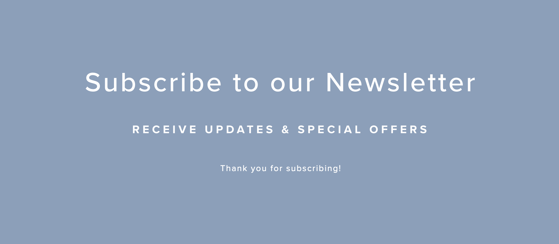 newsletter post-submit message in Squarespace