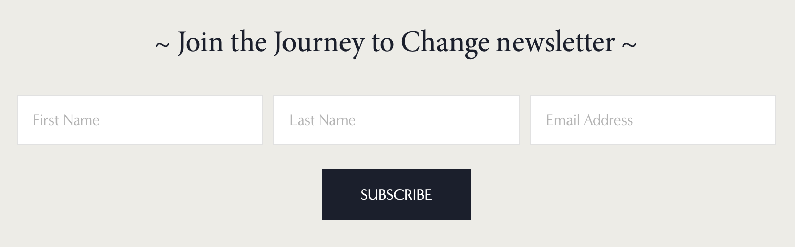 example of Newsletter block button style in squarespace