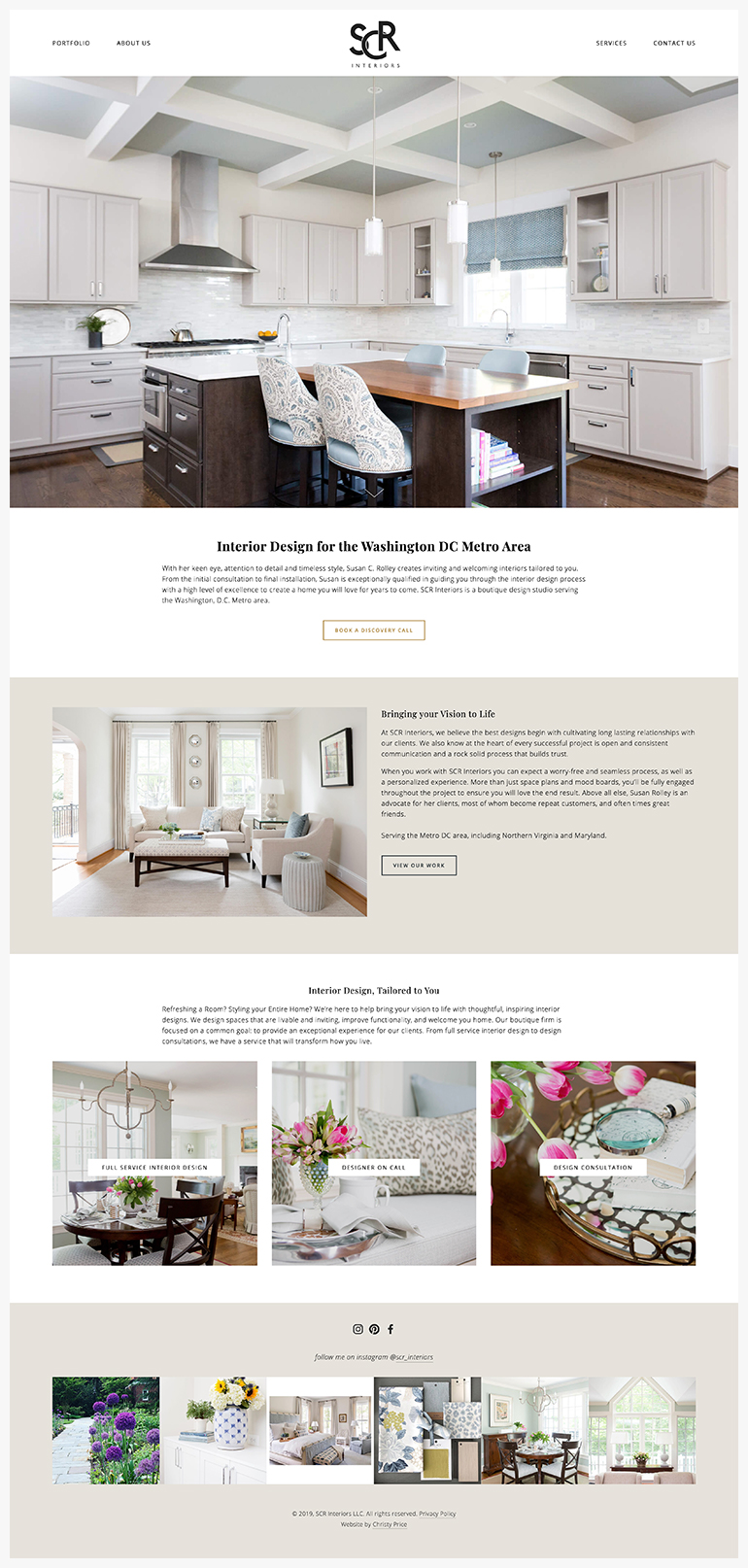 Scr Interiors Squarespace Web Design By Christy Price Austin Texas