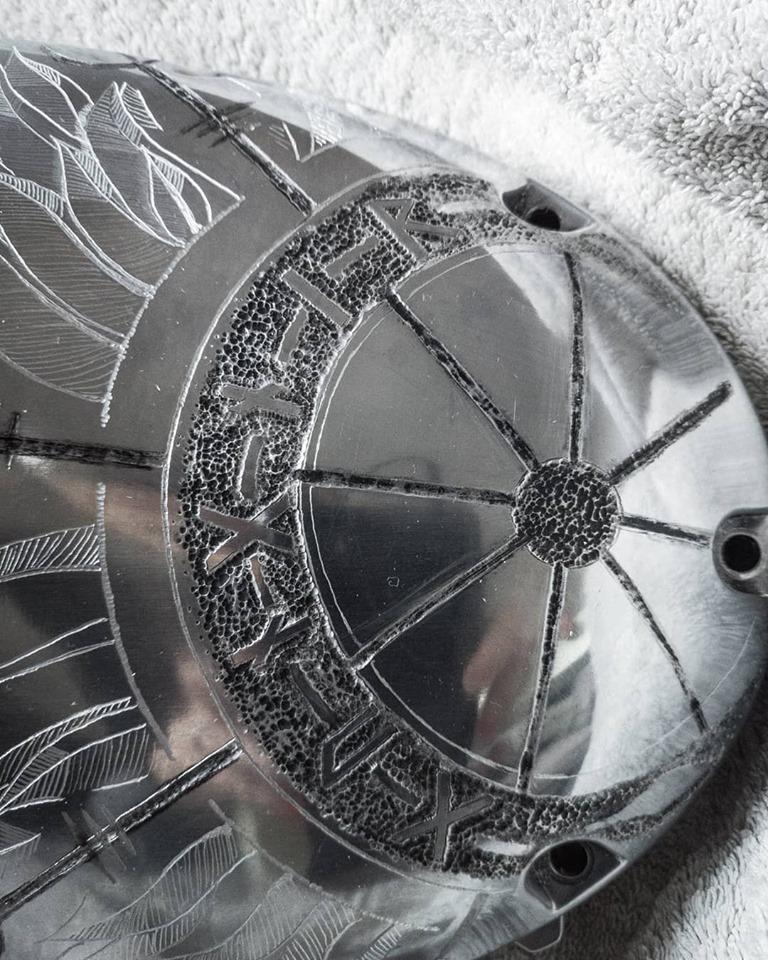 Royal Enfield Gungnir Engraving Clutch cover