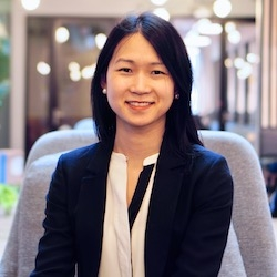"""""""Transforming healthcare through technology starts with a great product. Working cross-functionally, I strive to facilitate a powerful and delightful experience for primary care clinicians using the RubiconMD platform.""""  CHRISTINA LI VP of Product"""