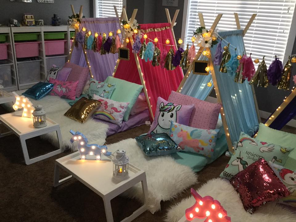 Unicorn Dreams - This theme is for the girl that dreams in bright colours complete with glitter and being carried away on the back of a magical unicorn. We use bright shades to bring a rainbow right into your own home, and pair it with cheerful pops of glitter and unicorns.