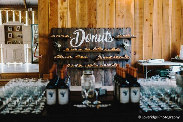Happy Monday! Who doesn't love donuts and wine?!? This custom donut wall was out of this world!  photo cred: @loveridgephotography  #wineanddonuts #mondaymagic #donuts #winenot #winenotdonuts #swallowcreekranchwedding #swallowcreekranch  #ranchwedding #barnwedding #coastalranchwedding #californiawedding  #cayucoswedding #sanluisobispowedding #slowedding #centralcoastwedding #centralcoastweddingvenue #californiaweddingvenue  #805wedding  #swallowcreekweddings