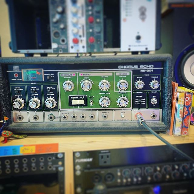 This is what's happening over here today. #spaceecho #chorusecho #re301 #music #livemusic #roland #recordingstudio @roland_us @cdbabymusic