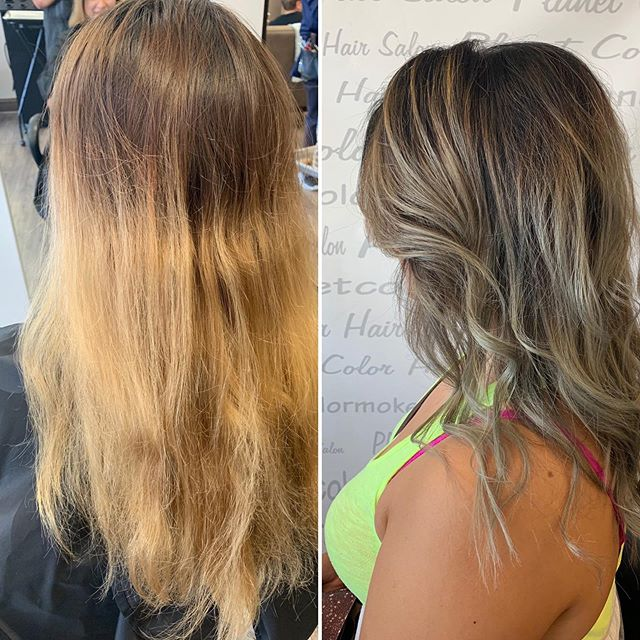 Love to watch magic happen!  Beautiful before and after by Shae #beforeandafter #ighair #ashblonde #fallhair #fallhaircolor #matrix