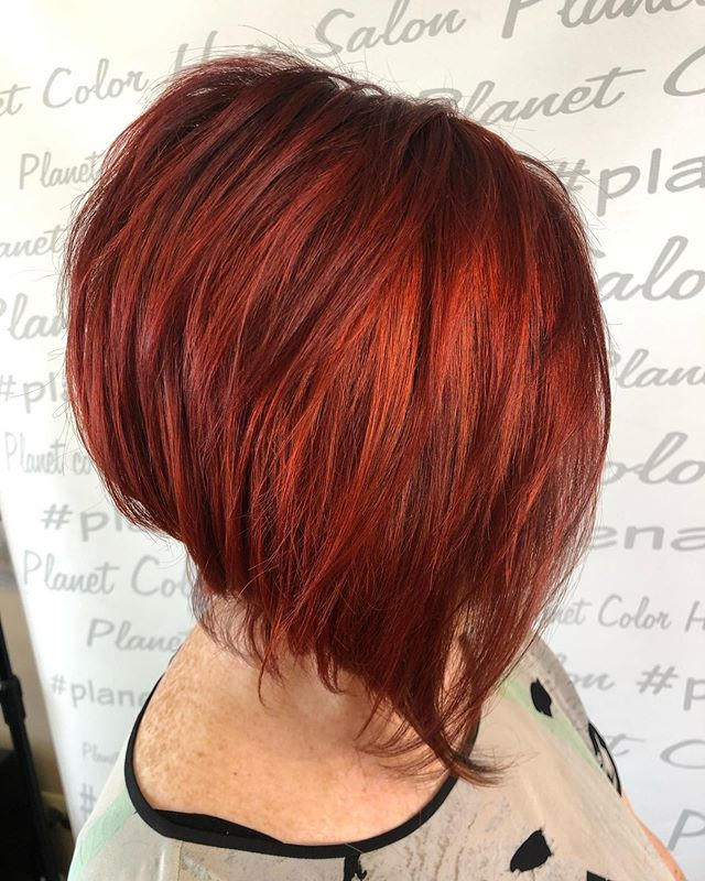 This cut and color is on point for fall!!🍁 Cut and color by Joe  #fallfashion #fallhaircolor #ighair #ighairgoals #matrix #matrixcolor #matrix #redhair #gingerhair #fireredhair