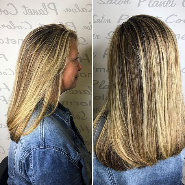 Who says blonde hair doesn't can't look shiny and healthy!  Cut and Color by Joe  #blondehaircolor #blondehair #ighair #ighairgoals  #shinyhair #healthyhair #matrixsalon #matrixcolor #blondehighlights #blondorwella