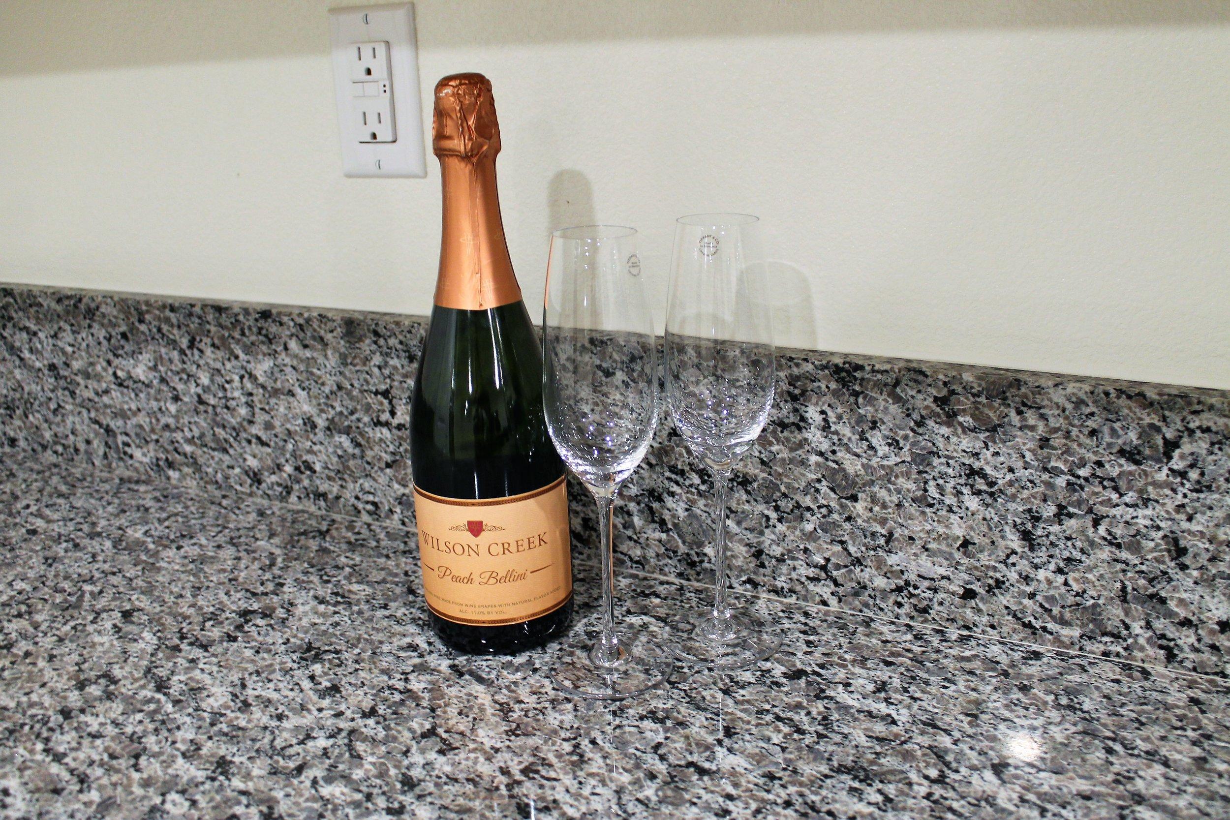Tiffany Glasses and Champagne.JPG