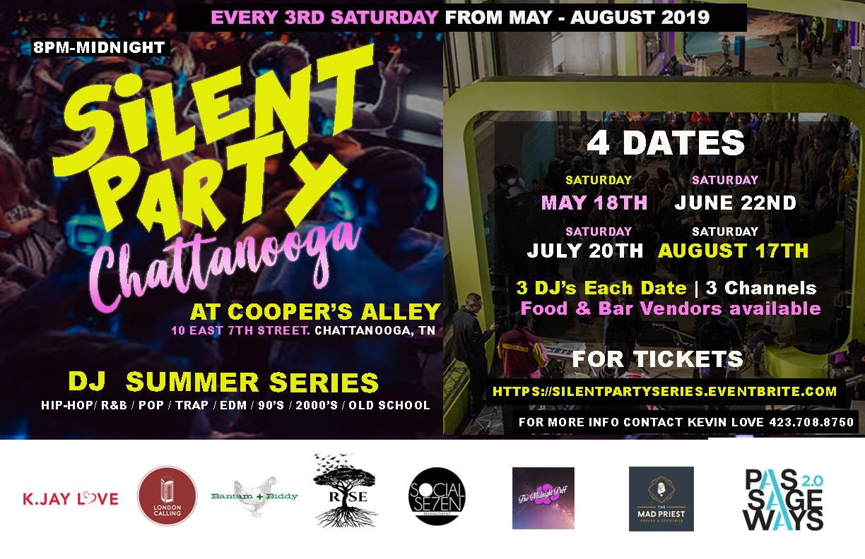 Silent Party Chattanooga — Market City Center | Downtown