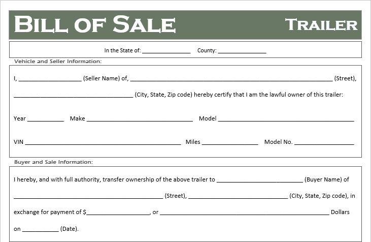Truck Bill of Sale