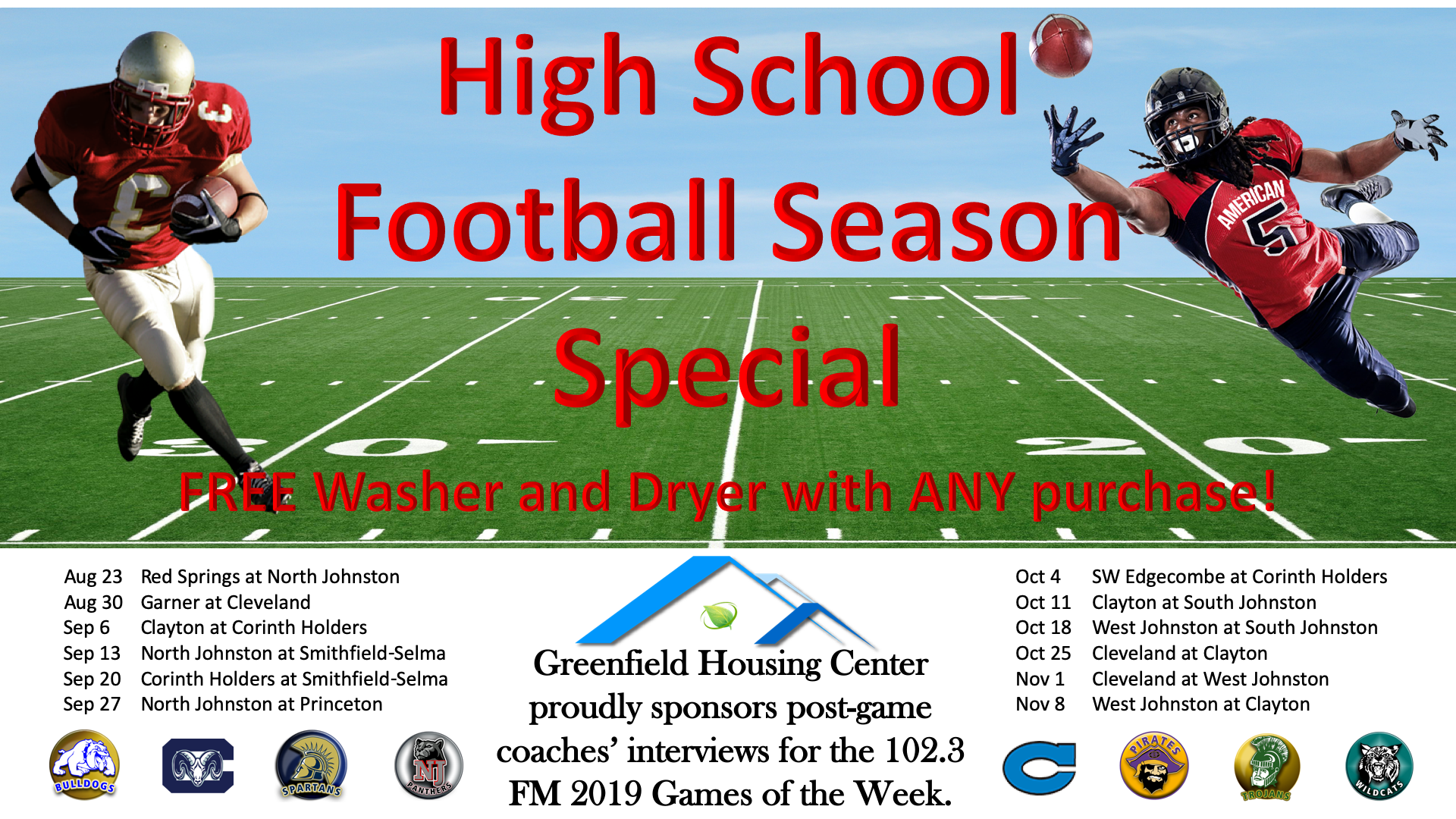 Greenfield fall Football promo 2019.png