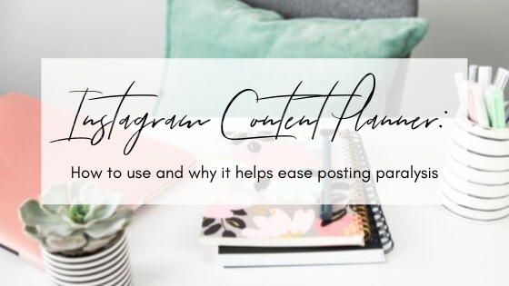 How to use your Instagram content planner