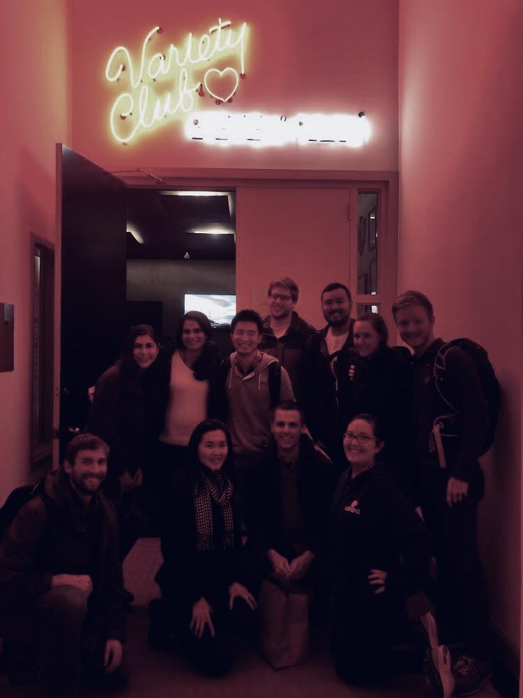 Gilbert lab at variety comedy club night - 2/15/2019