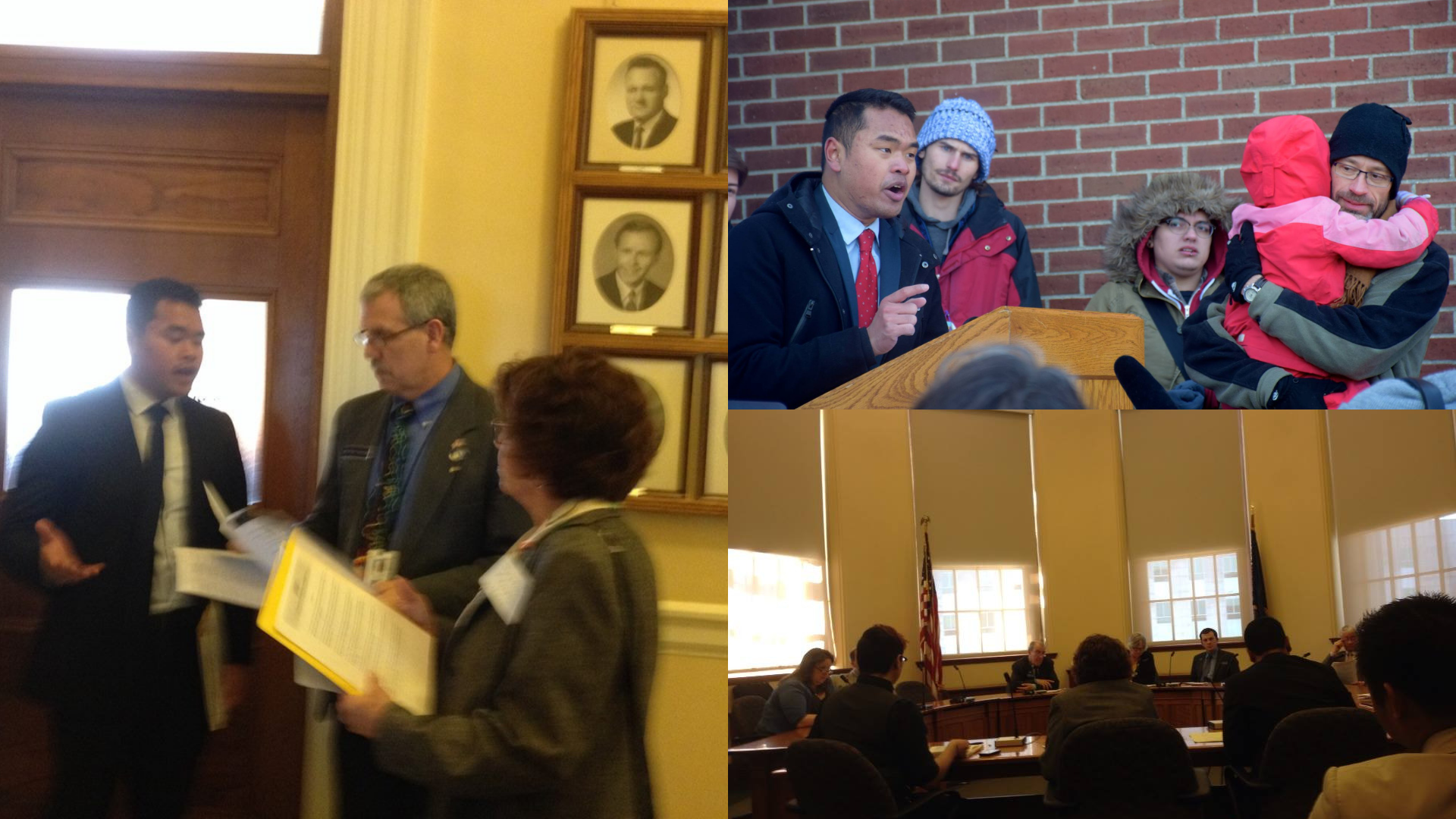 2014 - Later that spring, budget cuts at USM prompted student protest. As Student Vice-President, I focused on the part that anemic state funding played in bringing austerity management to USM and the Maine university system. We organized along with the Maine Education Association to lobby legislators to bring about a change.