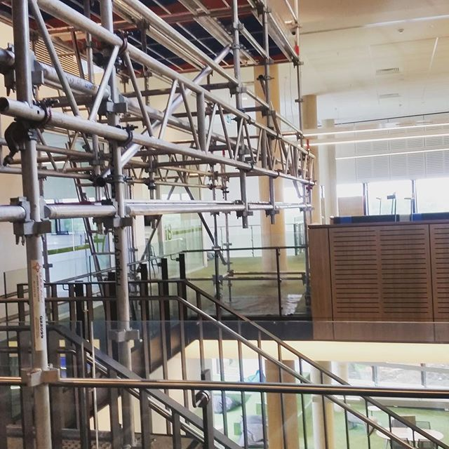 Internal works at Western Sydney University Kingswood for Taylor Constructions . . .  #ABCscaffolds #scaffolds #scaffoldwork #scaffolding #scaffoldhire #construction #building #built #scaffoldbuilder #loveyourjob #hardwork #scaffy #sydneybuilder #commercial #commericalconstructions #university #westernsydney