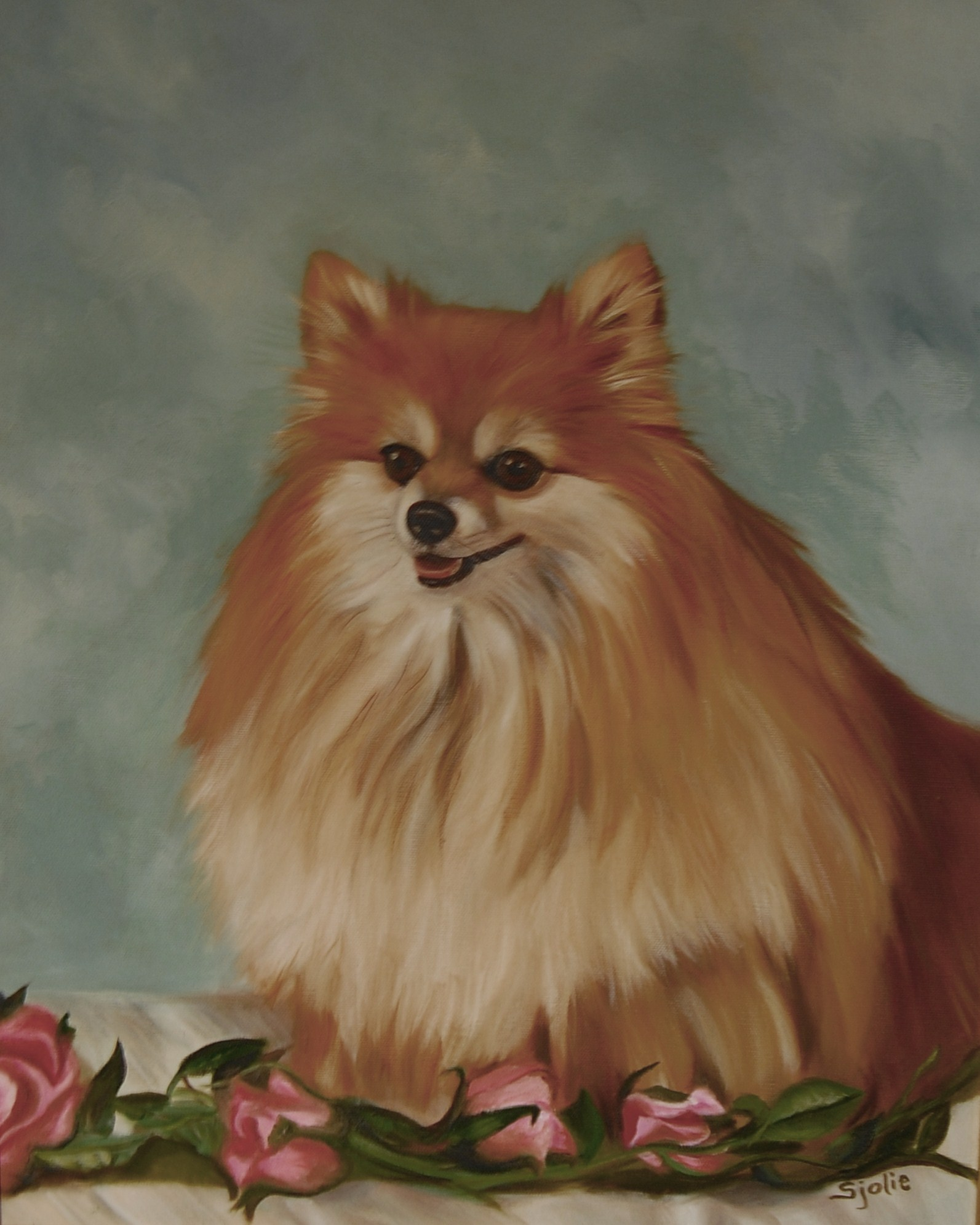 "Custom Pet portraits - This is ""Peanut""Let me recreate your loving pet in a beautiful oil or pastel Painting."