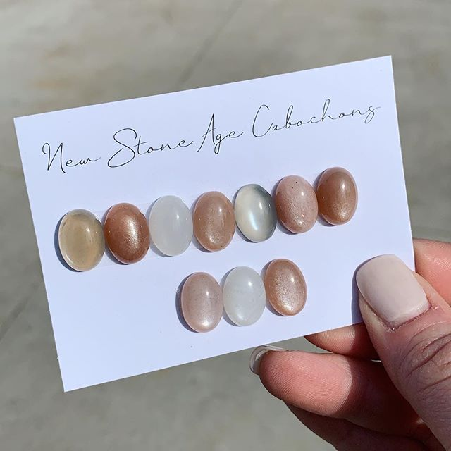 INDIAN MOONSTONES Can't wait to turn these beauties into rings 🌛🧡