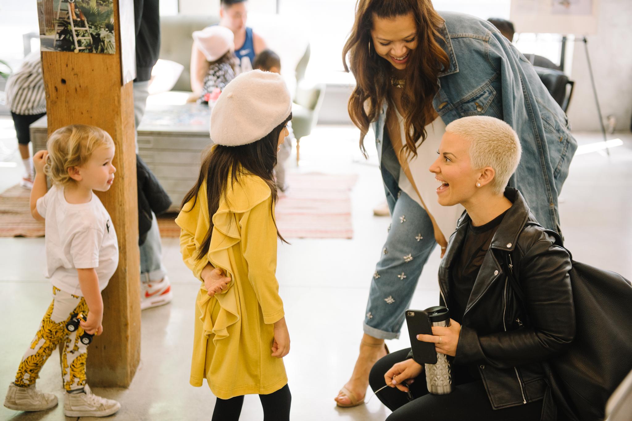 Chelsea Leifken  with Giana  @G.Von.G , at JIG+SAW x Fashion Mama Art Show