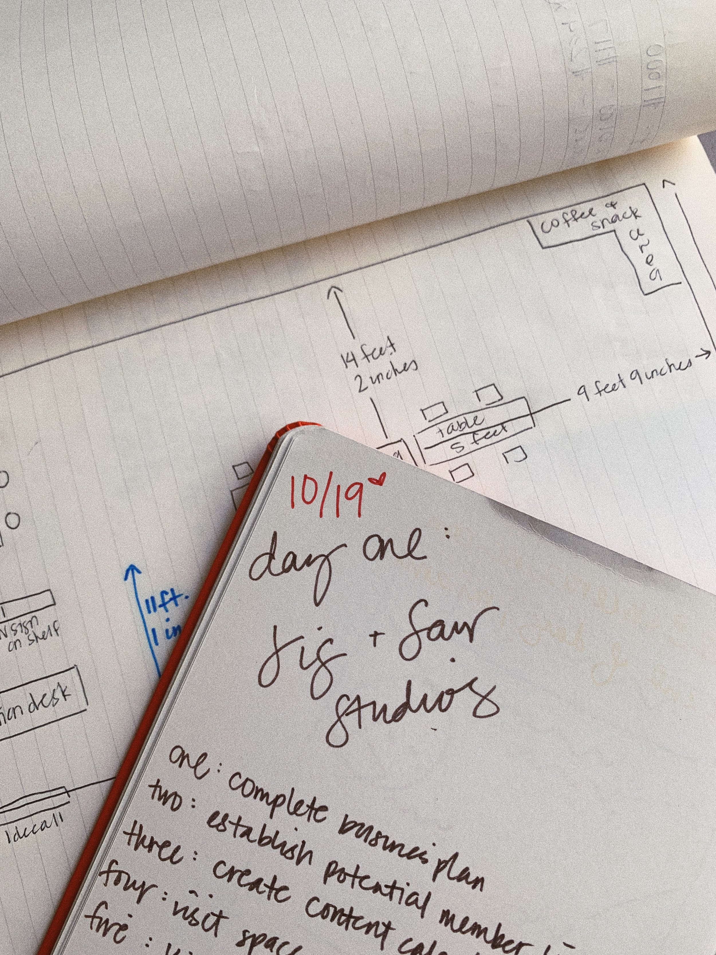 first page in the first JIG+SAW notebook, 2015.