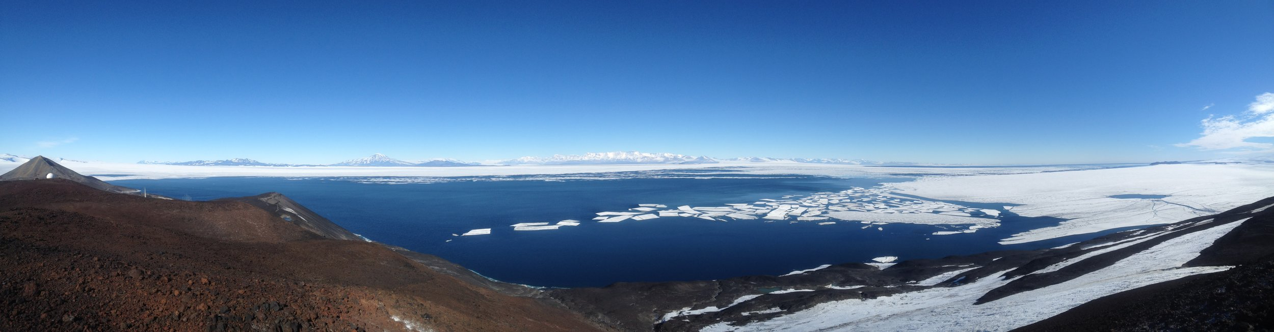 The view from the hills above Scott Base, Antarctica.
