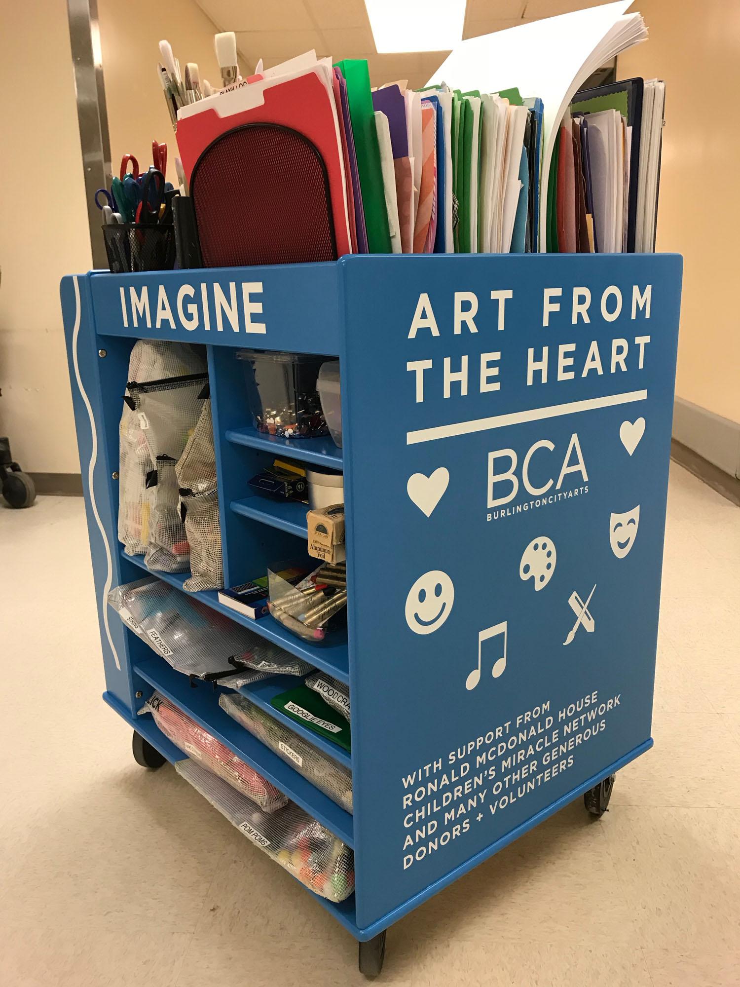 Pediatric art cart.