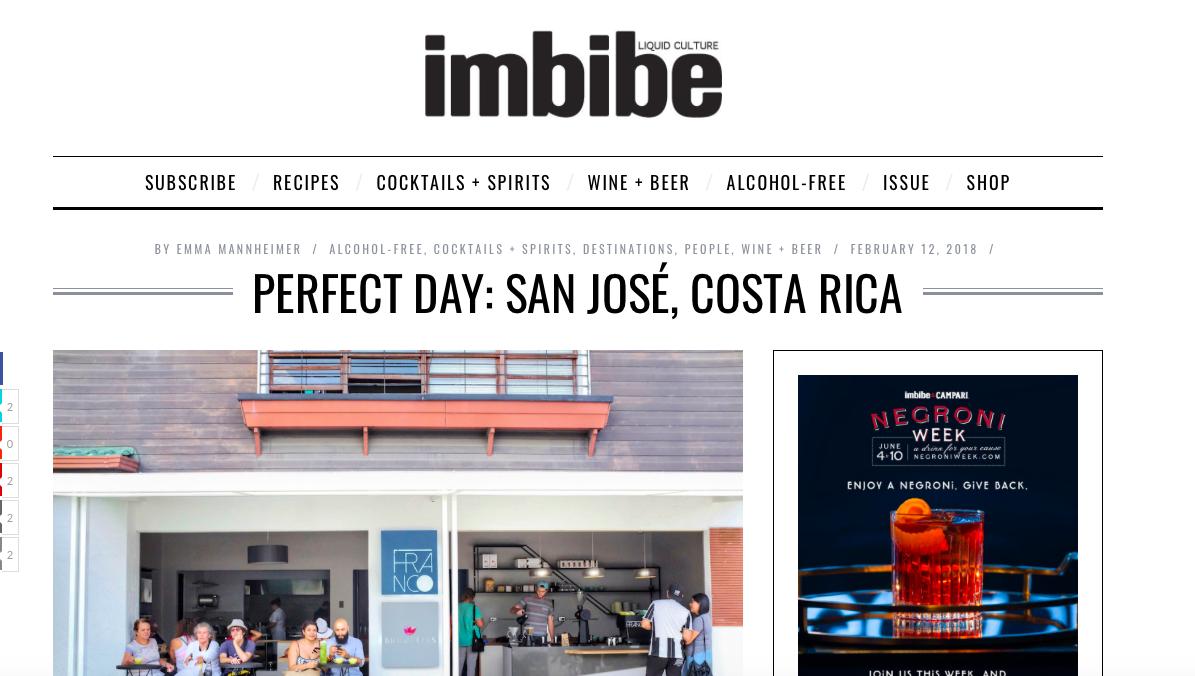 Imbibe Magazine - My Perfect Day