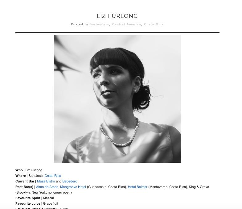 Bartenders Atlas - Liz Furlong