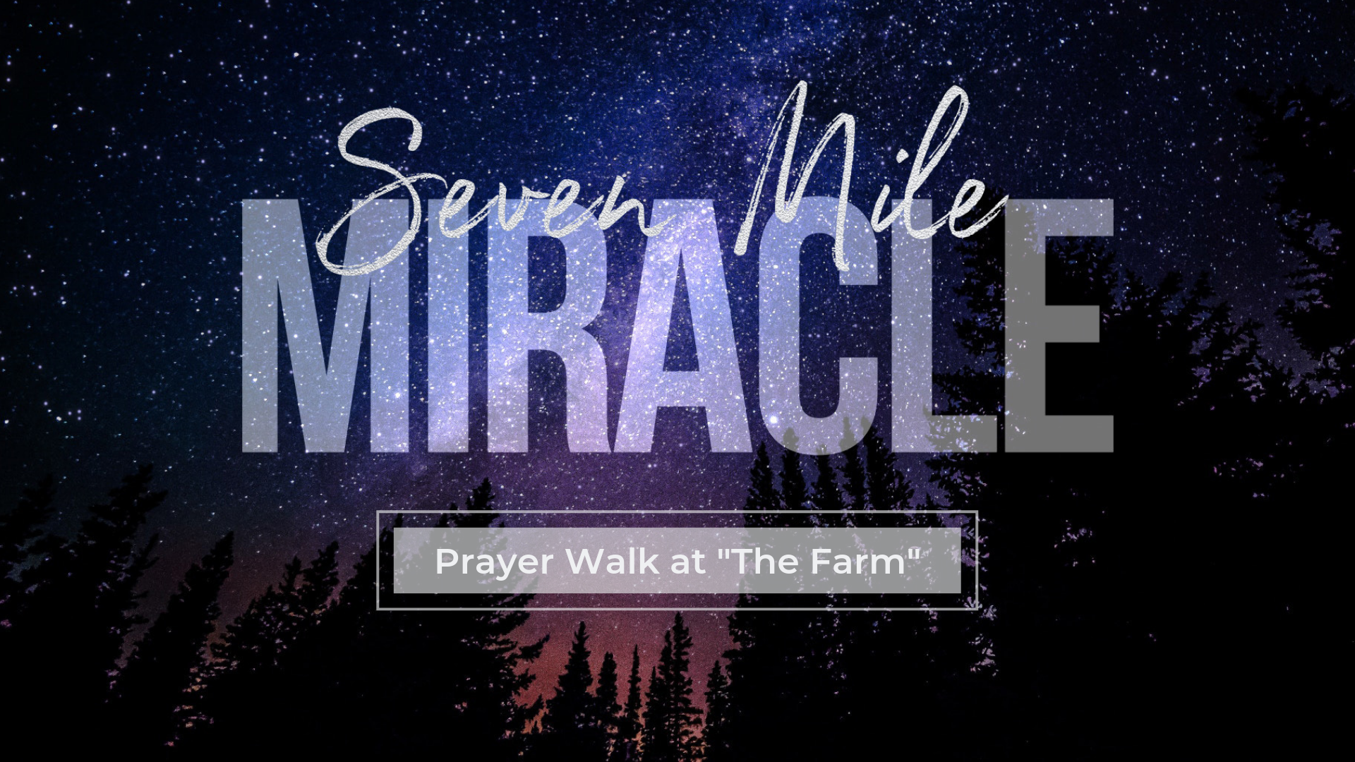 Seven Mile Miracle Prayer Walk — Cornerstone Bluffton