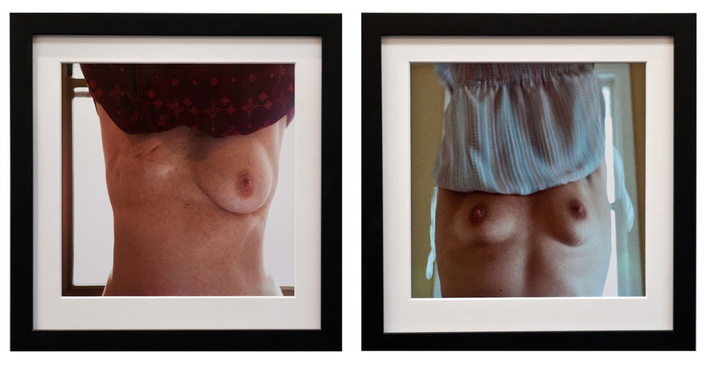 James Darling & Lesley Forwood,  Arms Up 2 (L) and Arms Up 1 (R) , 2014, type C print, 21 x 21 cm ea
