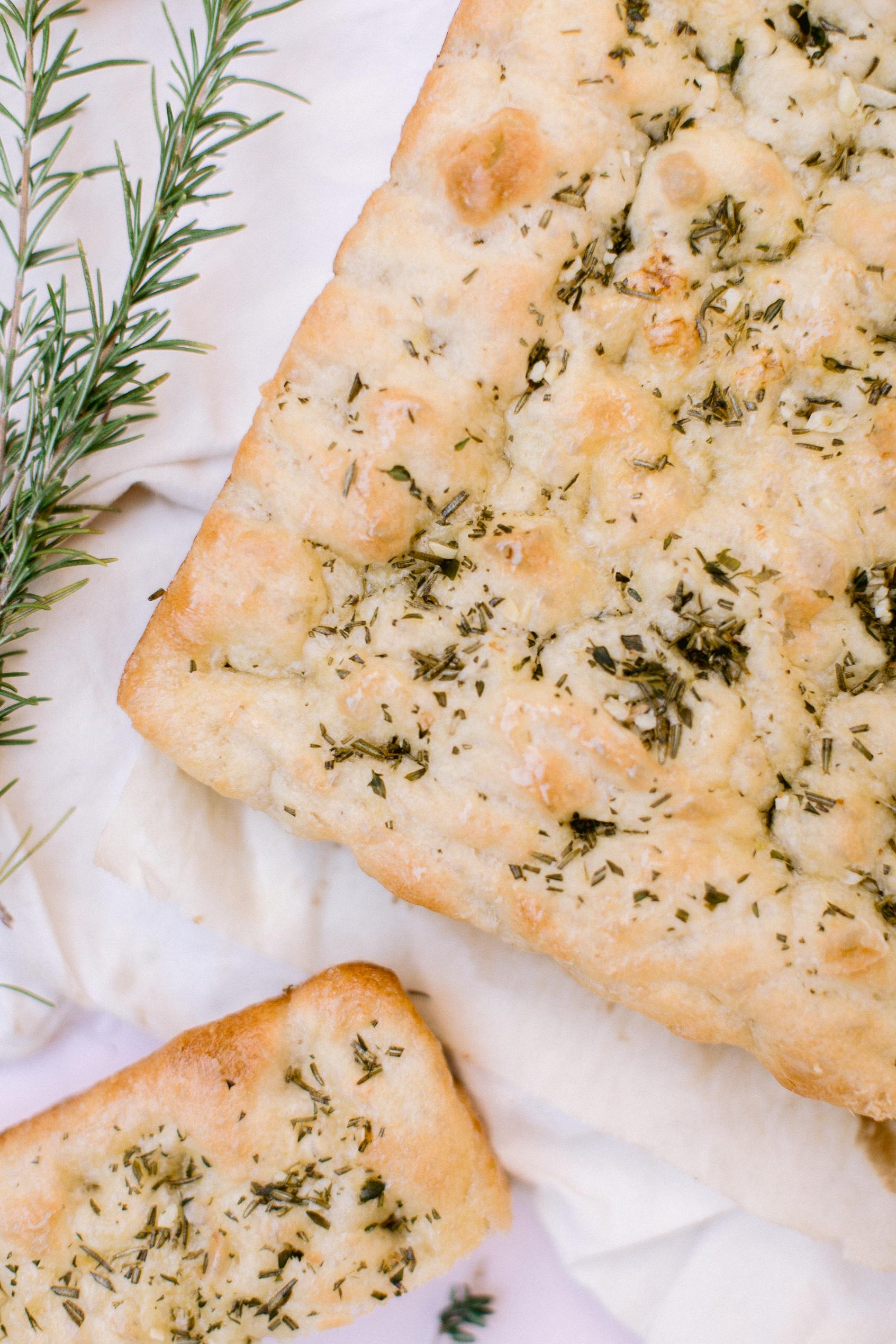 garlic herb focaccia