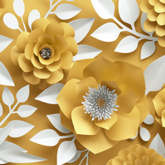 Yellow Paper Flowers