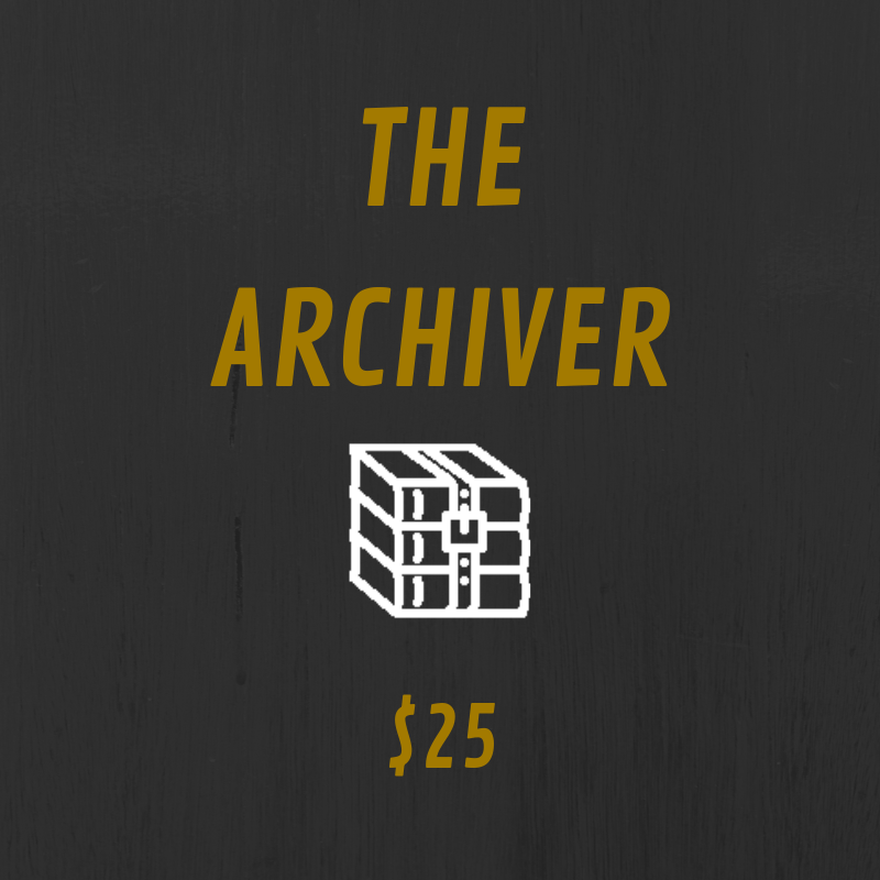 The Archiver tier comes with some kick ass benefits. You get access to annotated scripts and bonus content such as Q&As and episode discussions. Plus, you get a cool sticker to place wherever you want.  In addition to that, you get a handwritten note sent to you from the creator of Fracture, Claire Wright, as well as a recorded, personalized shout out from the voice of Gwen Ortiz, Aela, herself! We even post it on social media for all to see.  Also, you receive a Fracture business card saying you're a supporting producer of the show. If anyone doubts you, we'll fight them. Pretty sweet, aye?  On top of all this sweet loot, you get a shout out at the beginning of an episode. Talk about the royal treatment.