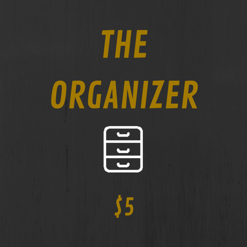 The Organizer tier comes with some kick ass benefits. You get access to annotated scripts and bonus content such as Q&As and episode discussions. Plus, you get a cool sticker to place wherever you want.