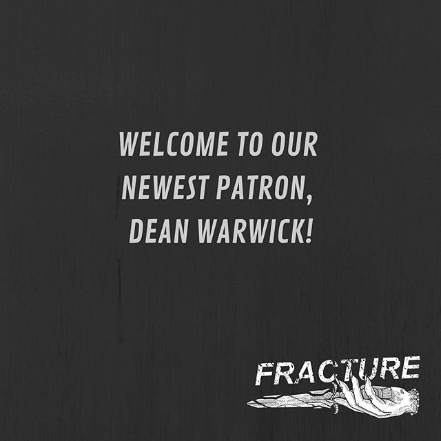 Welcome to our newest patron Dean Warwick, our new buddy from @regeneracingpod 🎉