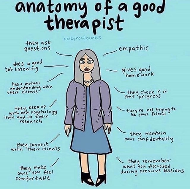 I'd like to this that this is a pretty close representation of me. In my opinion....Having a good connection with your therapist is essential to therapy. Sometimes it clicks, sometimes it's doesn't. If you don't feel it...it's okay! We shouldn't take it personally. Just try again with another therapist until you feel the most comfortable. #mentalhealthawareness #growth #mentalhealthadvocate #mentalhealthrecovery #healing #positivity #lighthouse #therapeuticservices #lighthousetherapeuticservices #pasadena #therapist #repost of @crazyheadcomics