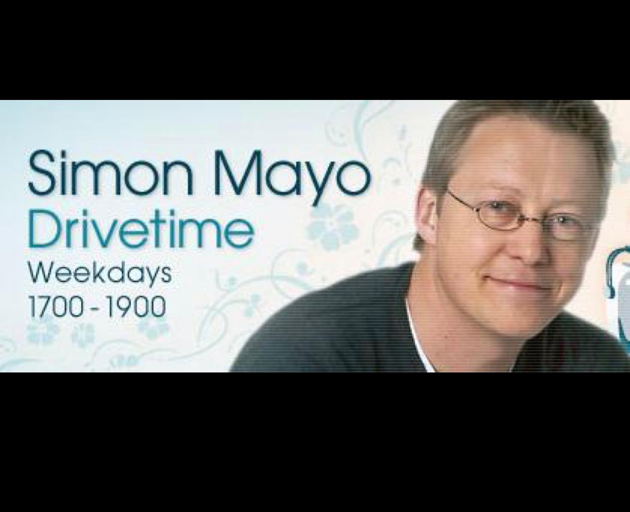 RADIO INTERVIEW, SIMON MAYO DRIVETIME, 2014