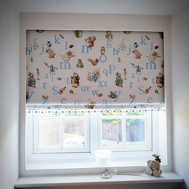 Peter Rabbit nursery blackout roman blind handmade and fitted by our expert team... call us to arrange a free no obligation home visit and quotation 💫 . . . . . #nursery #blackout #romanblind #nurserydecor #softfurnishings #sleeptime #styleinspo #peterrabbit #instadaily #instagram #interordesign #instagood #interiorstyling #instalike #homesweethome #bespoke #nurseryideas #photooftheday