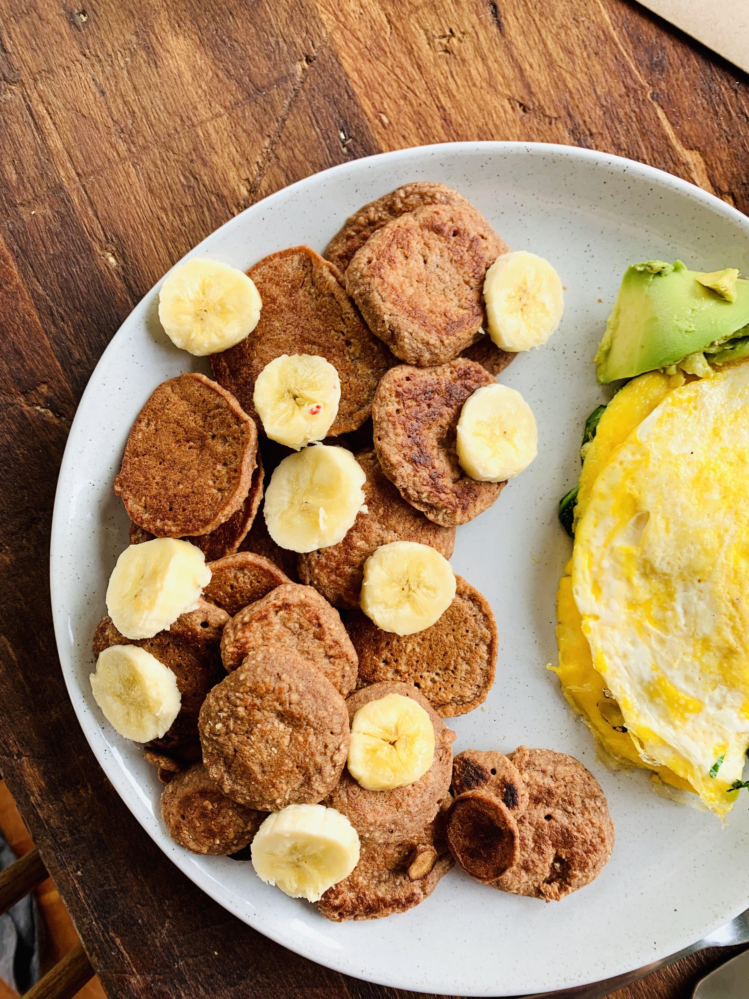 Honey Banana Pancakes (df/gf/v)